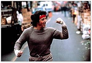 "Funny Ugly Christmas Sweater Sylvester Stallone Poster Wall Art Rocky Balboa Home Decor Prints 8"" x 12"""