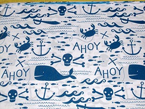 Authentic Kids Twin Size Sheet Set - Whales, Anchors, Pirates