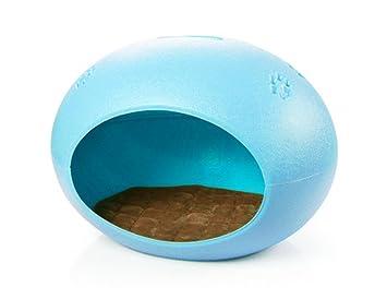 Perro De Gato Casa De Huevos De PláStico Con Jaula De Alfombra Desmontable Perrera Cama Duradera FáCil De Limpiar , Blue: Amazon.es: Deportes y aire libre