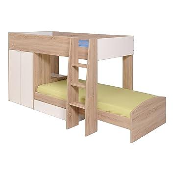 Amazoncom Parisot LISU Stim Bunk Bed With Mattress Twin - Parisot bedroom furniture