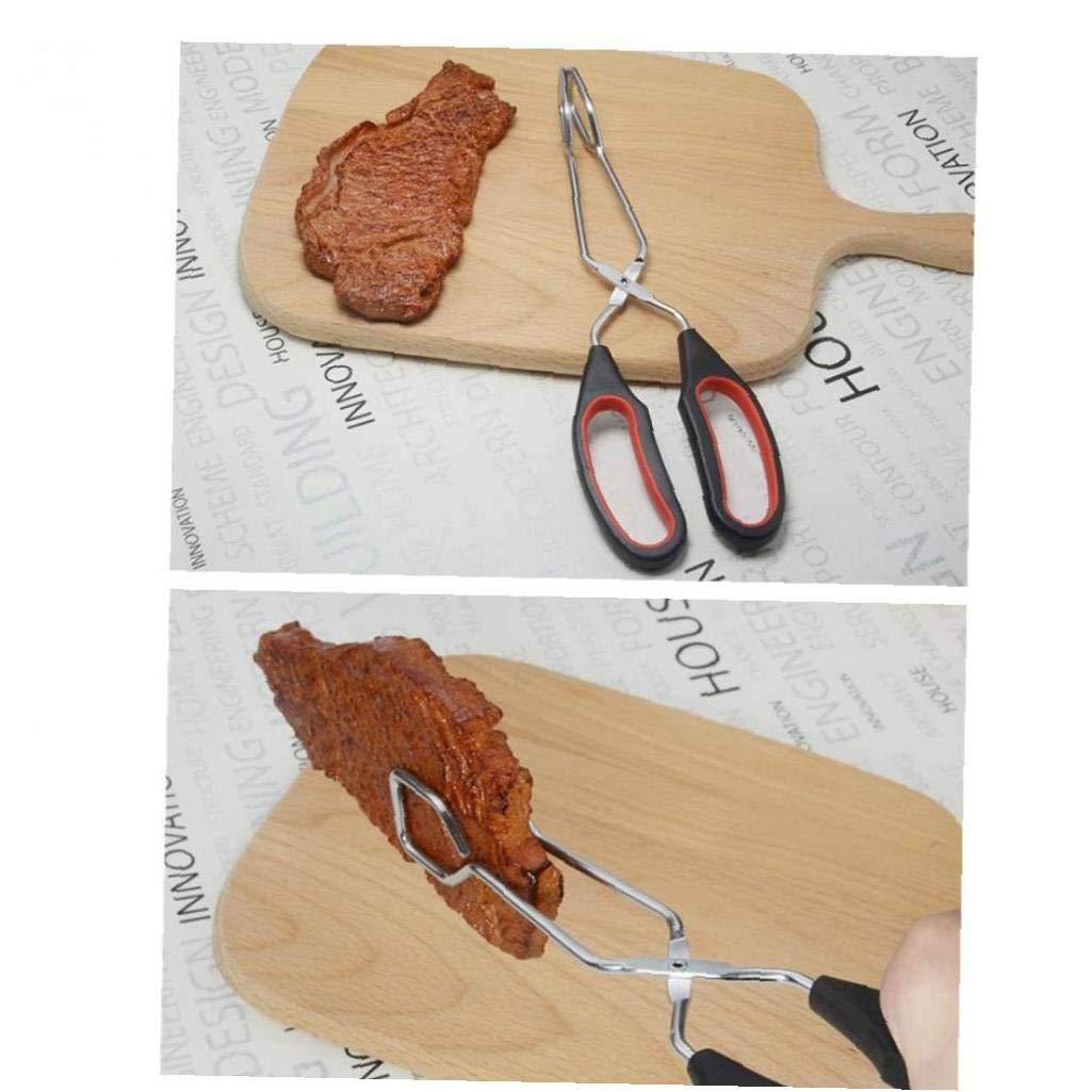 8x28cm Onsinic 1Pcs para barbacoa tenacillas de mango largo clip cocina de comida al aire libre Tijeras Tipo asa a prueba de calor camping multifunci/ón port/átil abrazadera