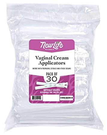 Disposable Plastic Vaginal Applicator Pack: Hygienic Threaded Injector Applicators to Fit Preseed Lubricant, Estrace, Personal Lube and OTC Gel or Cream Products - With Dosage Measurements - 30 Pack