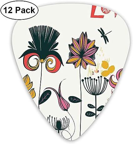 Púas de guitarra: paquete de 12, Funky, diferentes tipos de ...