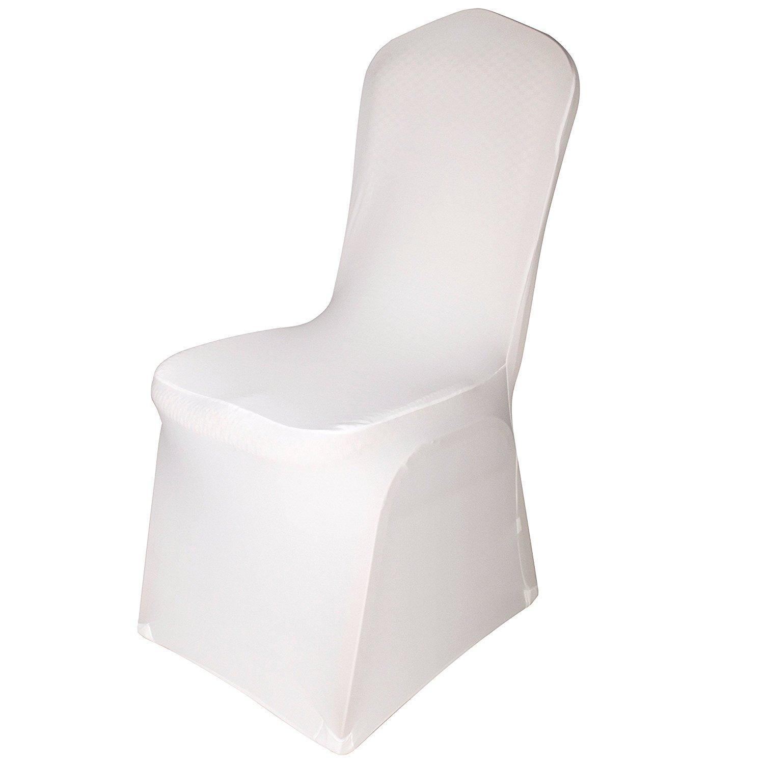Emart Set of 100pcs Ivory Color Polyester Spandex Banquet Wedding Party Chair Covers
