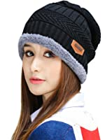 HindaWi Womens Slouchy Beanie Winter Hat Knit Warm Snow Ski Skull Cap