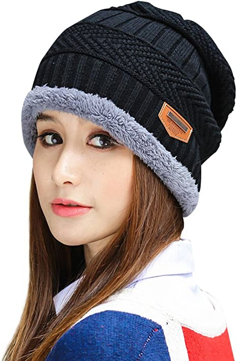 Bj Unisex Knitted Hat Fashion Warm Fleece Beanie Hat