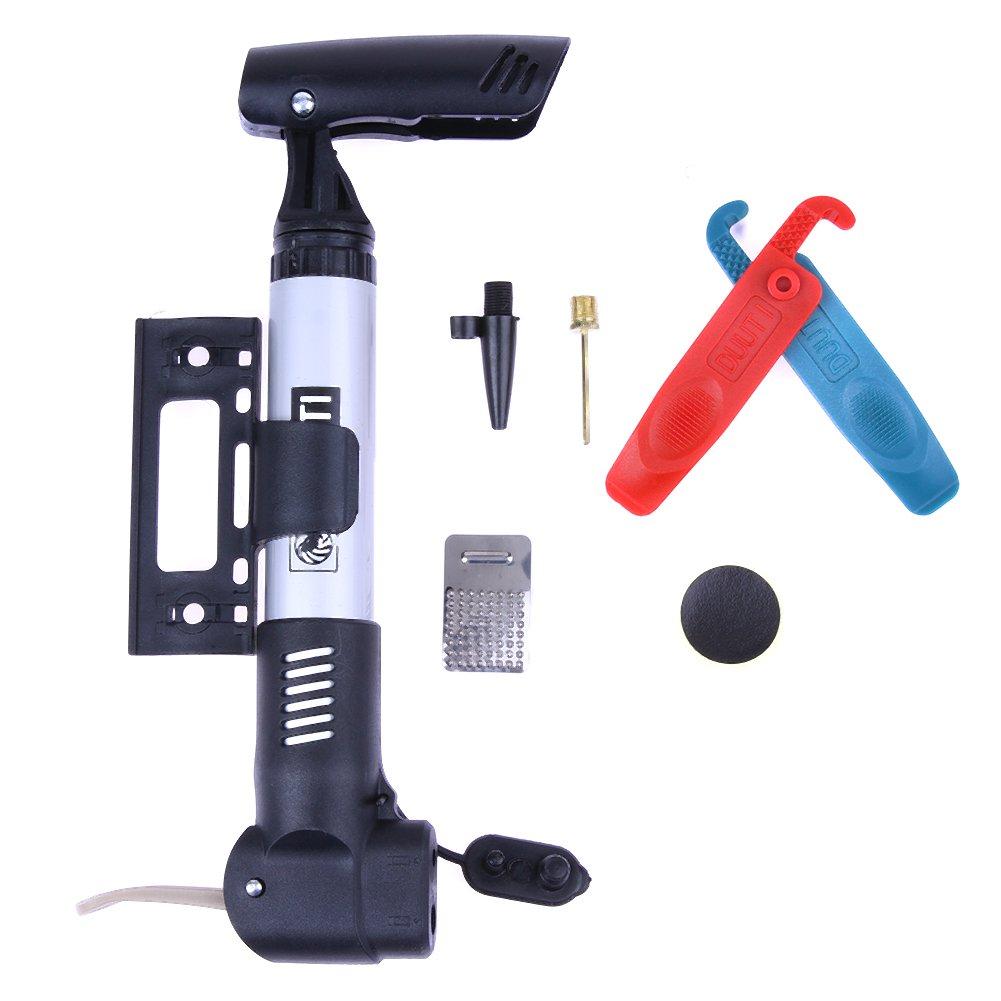 Broadroot mini portatile pompa di bicicletta metallo Air colla free Tool kit di riparazione set
