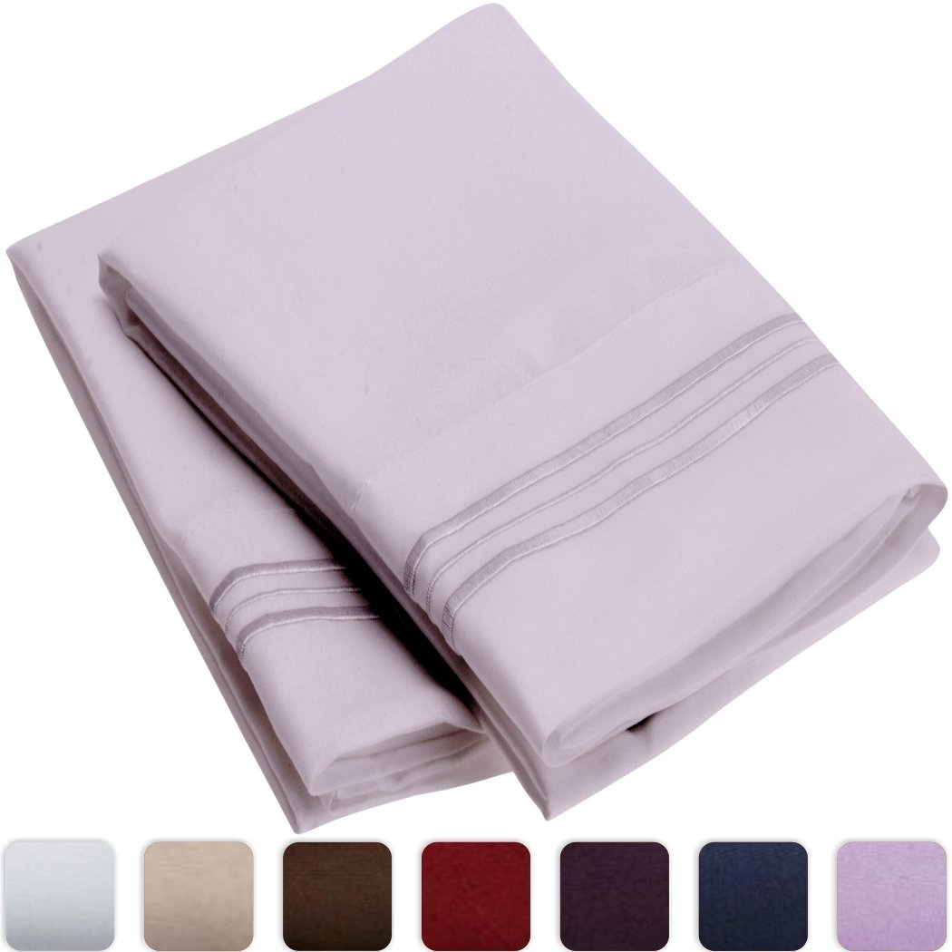 Mellanni Luxury Pillowcase Set - HIGHEST QUALITY Brushed Microfiber 1800 Bedding