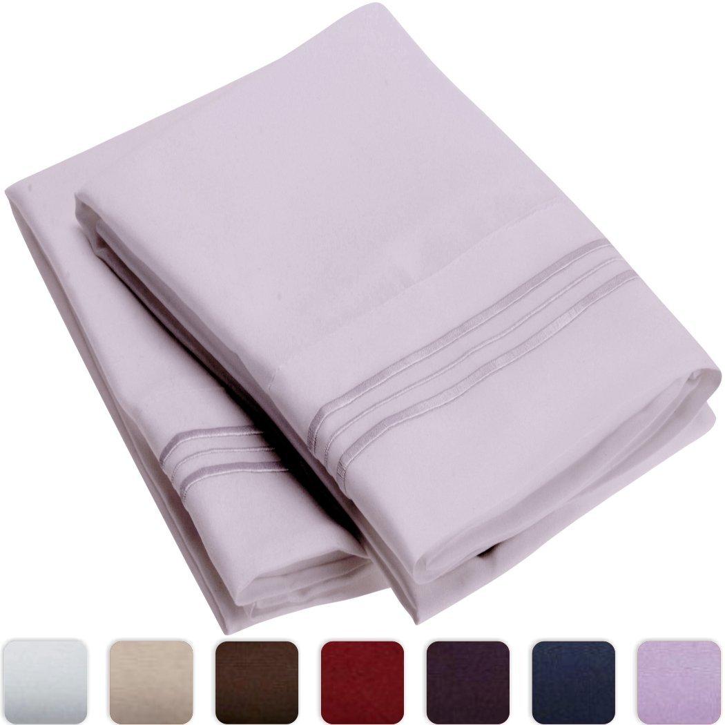 Mellanni Luxury Pillowcase Set - HIGHEST QUALITY Brushed Microfiber 1800 Bedding