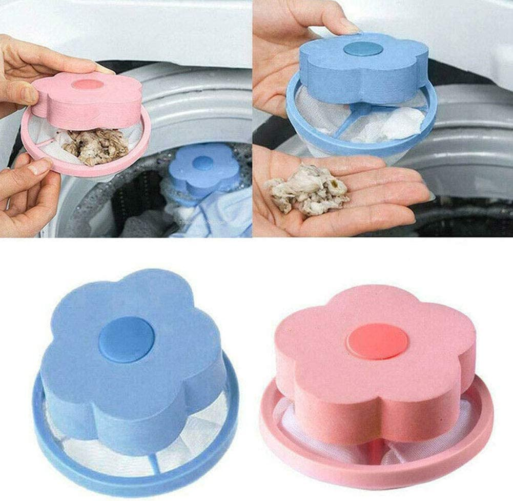 Round Green shengyuze Round//Flower Shape Washing Machine Hair Removal Laundry Ball Floating Filter Bag Lint Mesh Bags