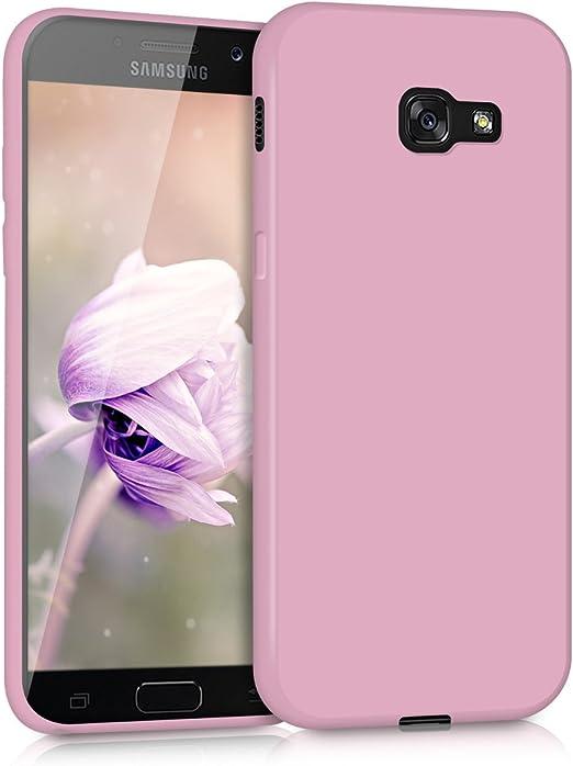 kwmobile Coque en TPU pour Samsung Galaxy A5 (2017) – Coque de protection souple fine et souple – Rose antique mat