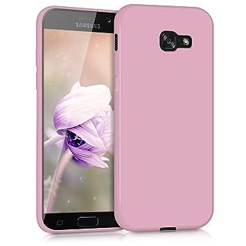 kwmobile Funda para Samsung Galaxy A5 (2017) - Carcasa para móvil en [TPU Silicona] - Protector [Trasero] en [Rosa Palo Mate]