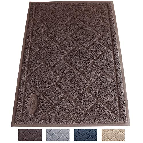 Vivaglory Cat Litter Mat, Large(35'×23') Enough to Keep Litter Mess Under Control, BPA & Phthalate Free, Soft on Paws, Easy to Clean, Gray
