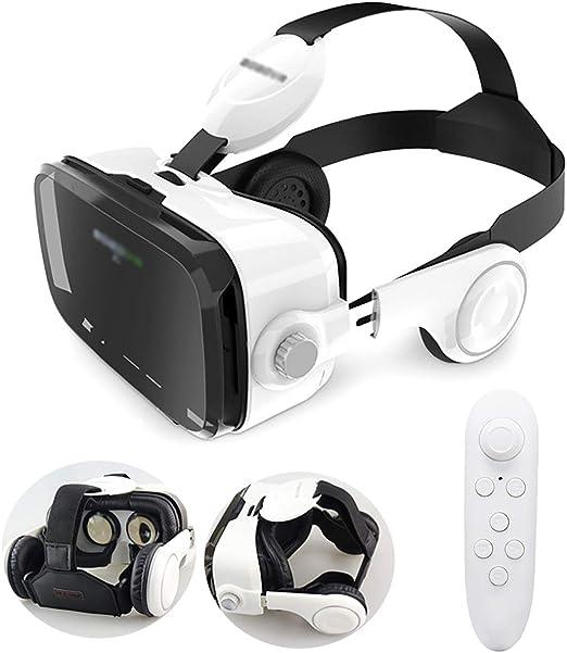 QQLK Gafas de Realidad Virtual 3D con Auriculares - Contesta la ...