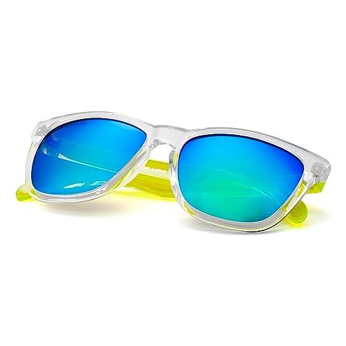 COLOSSEIN Hombres clásicos / gafas de sol de las mujeres marco cuadrado con espejo UV400 Protect