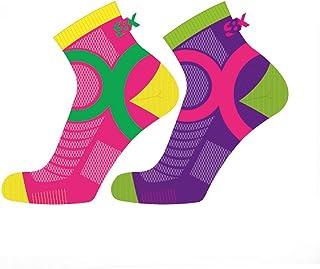 Eightsox Color 3 Running Socken Pink Purple