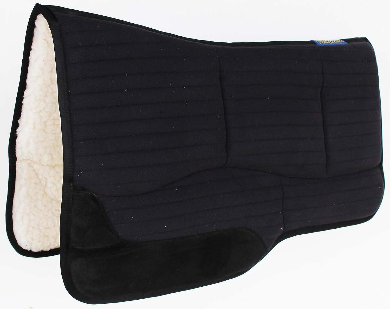 HorseサドルパッドWesternバレルEnduranceコットンファーフェルトブラック39154 – 156 黒-Cotton Fur