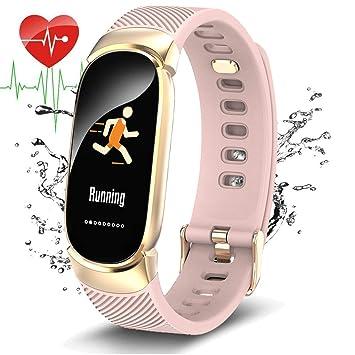 WISHDOIT Montre Connectée Tracker activité,Moniteur de fréquence Cardiaque Pédomètre Bracelet Intelligent,Surveillance du