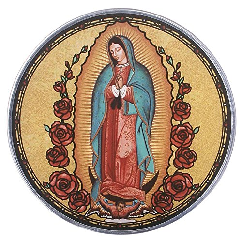 Design Toscano Stained Glass Panel - Our Lady Guadalupe Catholic Stained Glass Window Hangings - Art Glass Window Treatments