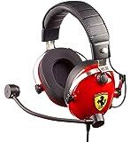 T.Racing Scuderia Ferrari 版 - 多平台游戏耳机,灵感来自法拉利 Scuderia 的真实木屐