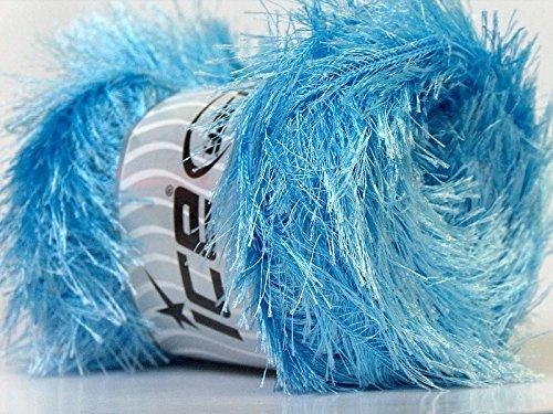 LG 100 gram Light Blue Eyelash Yarn Ice Fun Fur (Yarn Eyelash Blue)