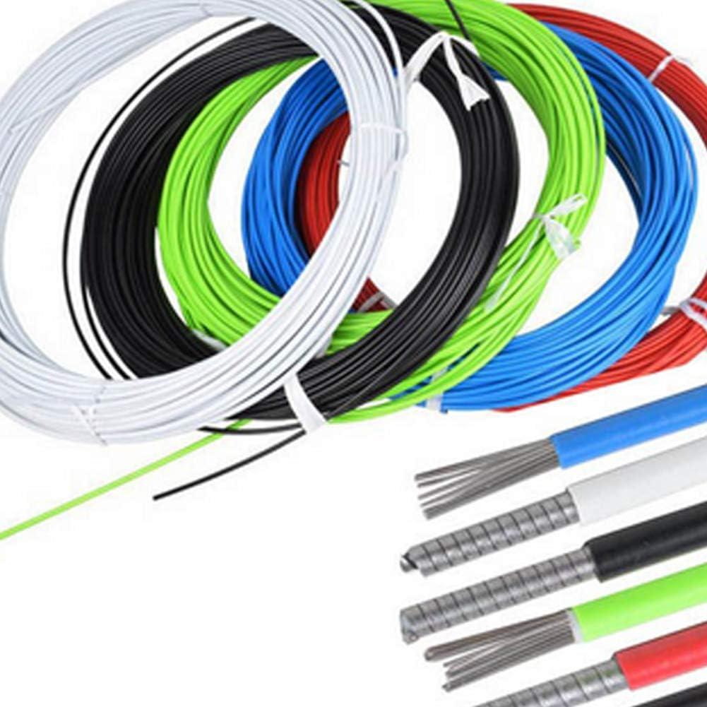 Ouken 1 rouleau 5m C/âble de frein VTT V/élo Shifting fil frein avant C/âble de base de fil arri/ère int/érieure Ligne de logement Tuyau Kit daccessoires pour v/élo de montagne-couleur al/éatoire
