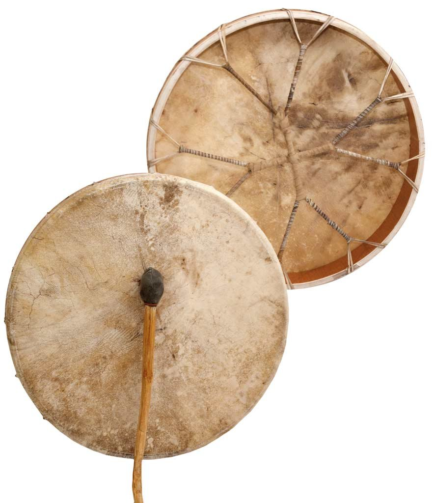 Shaman drum Cow plain 20'', Frame Drum, handmade