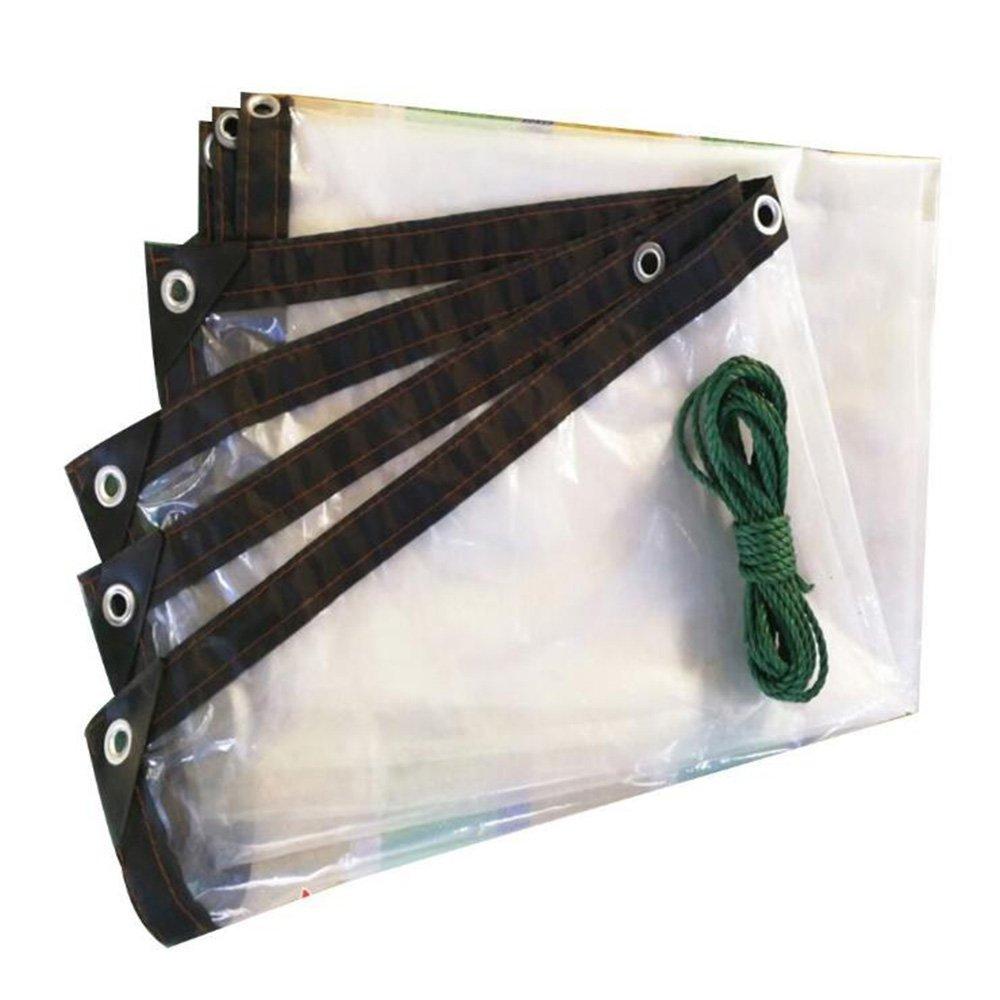 テントの防水シート ターポリンアイレットブランケットターポリンカバー透明サンシェードプラットフォーム保護ポリエチレン-100g/m2、厚さ0.12mm、マルチサイズオプション それは広く使用されています (サイズ さいず : 4 x 4 m) B07DMYHSL5 4 x 4 m  4 x 4 m