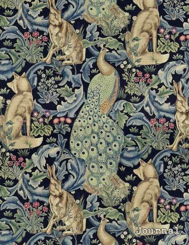 Journal: Vintage Art Nouveau Peacock Print   150 College-ruled Pages   8.5 x 11 - A4 Size (Vintage Floral Designs)
