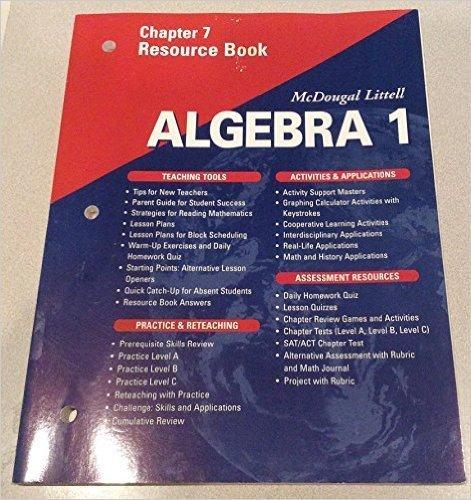 McDougal Littell Algebra 2 Resource Book Chapter 3