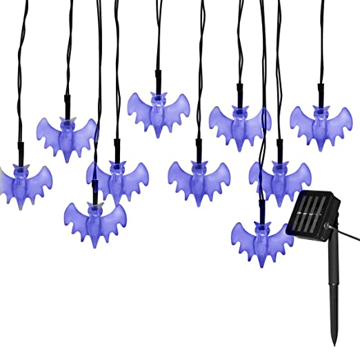 best service 284bd 87727 Tuokay Solar Powered 50 LED Fairy Lights, Bats Lights ...