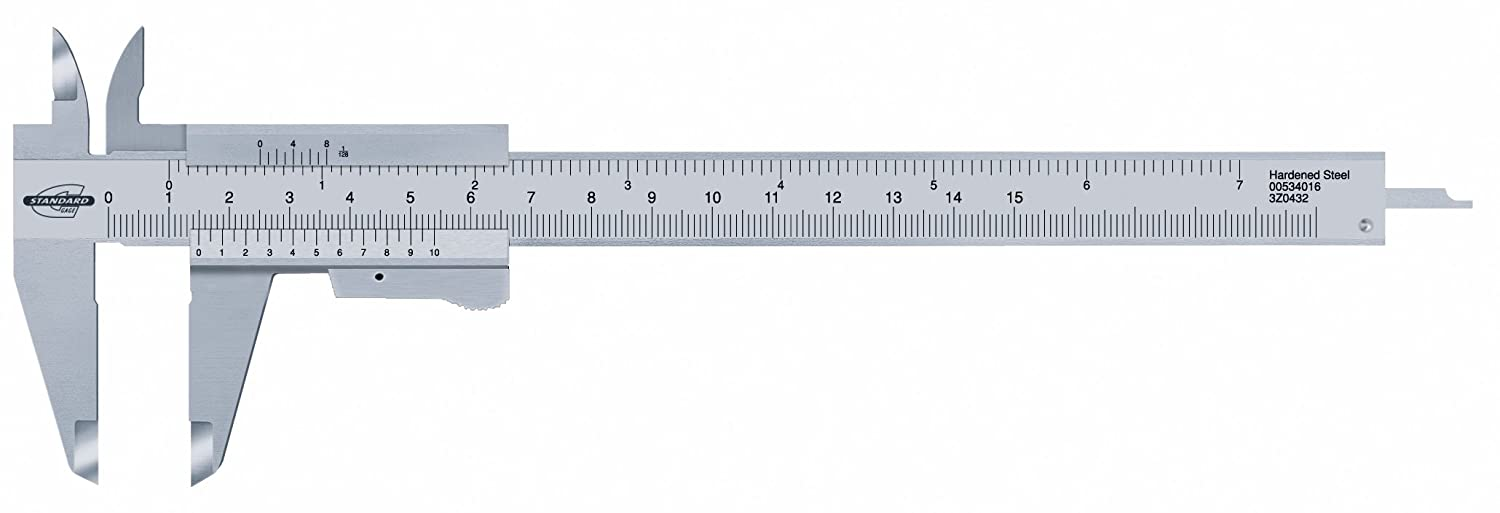 Standard Gage 00534016  Vernier Caliper with Locking Lever  –   150  mm/6  inch, with elastic closure/0.05  mm/1/128  Inch with elastic closure/0.05 mm/1/128 Inch TESA