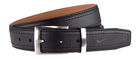 fec645d14e3 Nike New Men s G-Flex Pebble Grain Golf Belt Leather Black Size 32