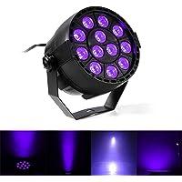 lifego 36W 12LED Auto Master UV Negro luces Wall Washer luces IR Mando a Distancia para bar Party DJ Etapa