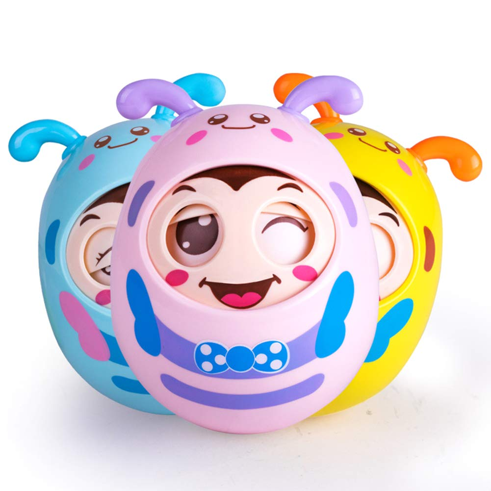 Le yi Wang You Funny Cartoon Style Blink Nod Sound Tumbler Toy Kids Children Educational Gift Random Color