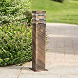 Modeen Outdoor Lawn Light Floor Lamp Simple Modern Villa Column Lamp Post Light Patio Garden Decoration Lights Waterproof Table Light E27 Decoration Illumination (Color : Bronze, Size : 40cm)