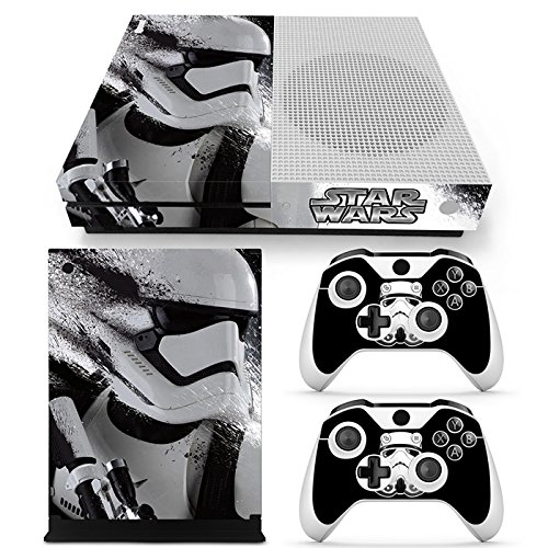 ZoomHit Xbox One S Console Skin Decal Sticker Star Wars StormTrooper + 2 Controller Skins Set (S Only)