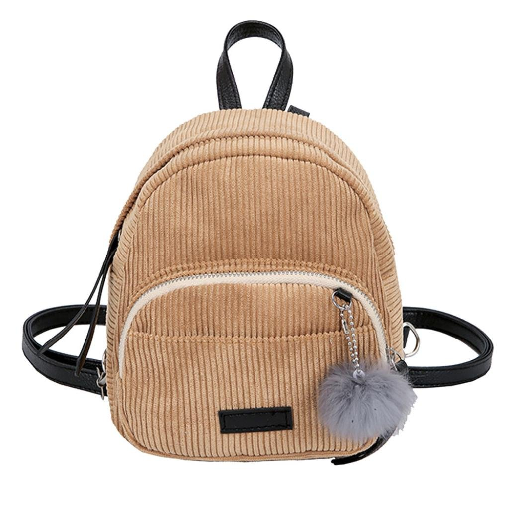 af4bd832cf7 Corduroy Corduroy lining ♥Mini backpack with comfortable wide handle