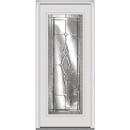 National Door EFO686BRZ28LHDWL Steel Prehung Left Hand In-Swing ...