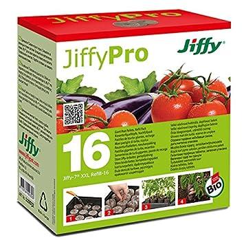 Jiffy 5326 - Pastillas de turba prensada para invernaderos: Amazon.es: Jardín