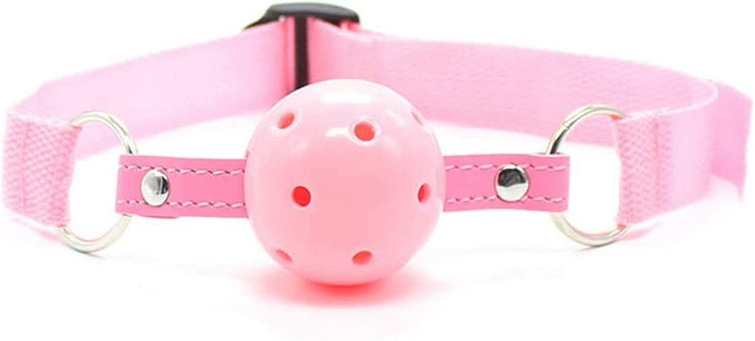 Tcouplesexy Yoga Mouthpiece Nylon Strap Hollow mouthball Stage Performance Props