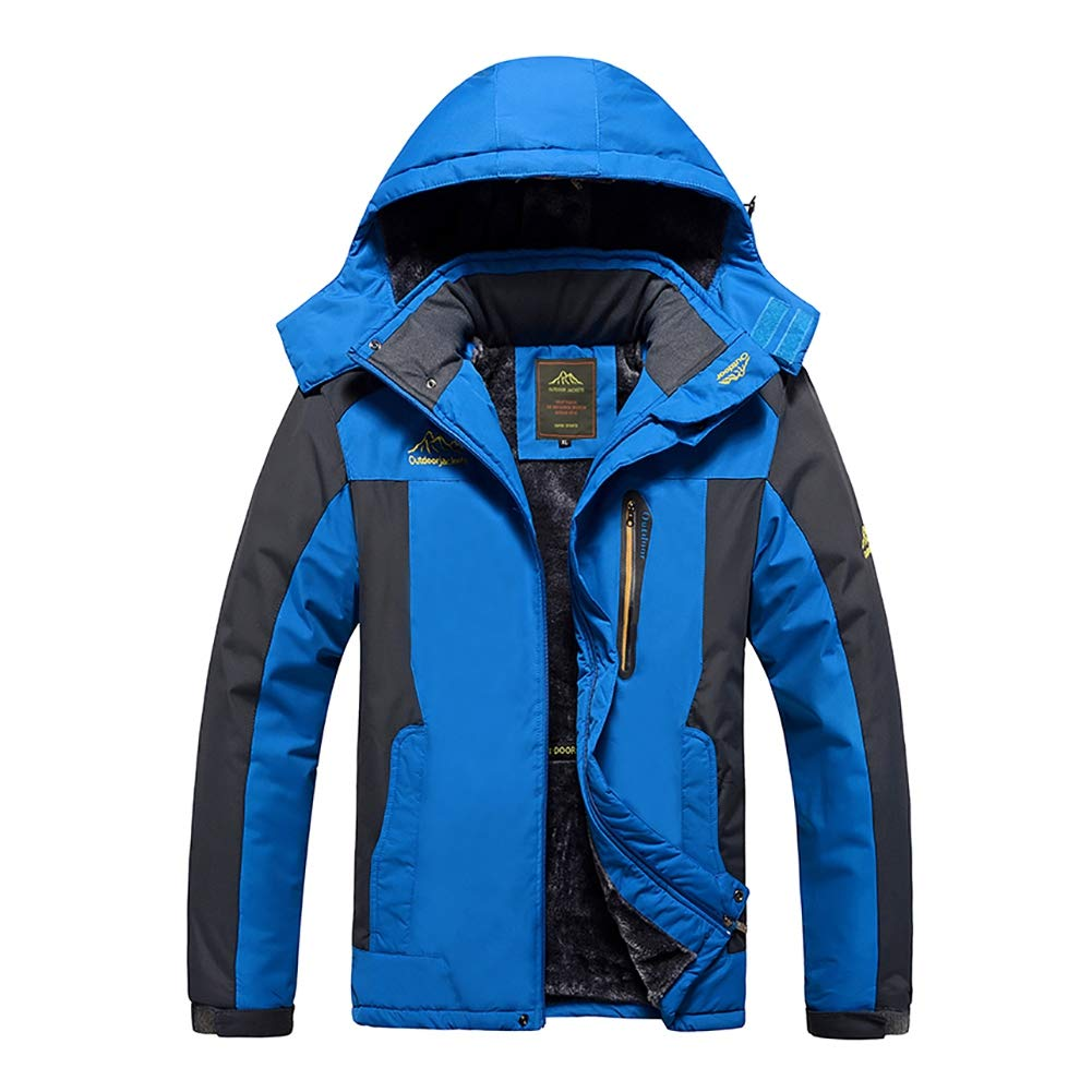 M-9XL Plus Size Winter Thicken Jackets Men Women Ski Outfits Warm Coats Windproof Raincoat Snow Jackets Windbreaker Hooded Raincoat by MacRoog
