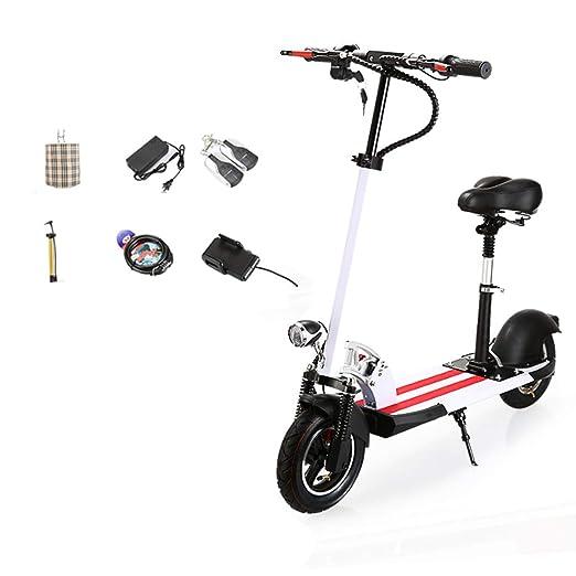 P&LK Scooter eléctrico Plegable, Scooter de Patada de 10 ...