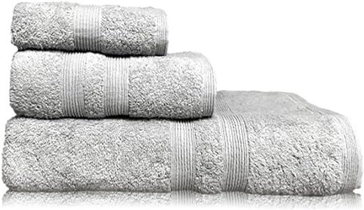 Amazon Com Puffy Cotton Gray Bath Towels Bathroom Sets Luxury