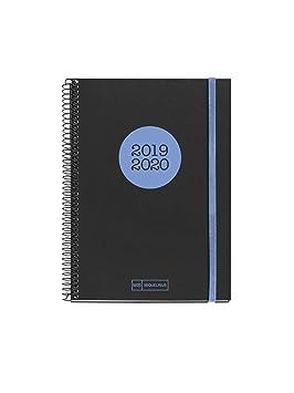 Miquelrius agenda escolar espiral 2019 2020 semana vista neón azul catalán 150x213 mm