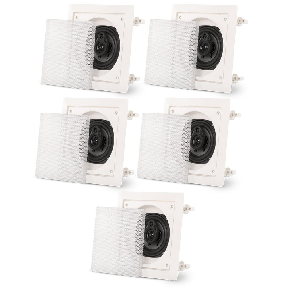 Acoustic Audio CS-I43S In Wall / Ceiling 3 Way 5 Speaker Set Home Theater 1000 Watts CS-I43S-5S
