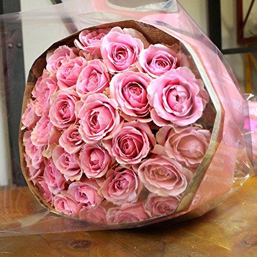 〔エルフルール〕バラの花束 50本 カラー:ピンク 結婚記念日 プレゼント 薔薇 誕生日祝い 贈り物 B0147V1T1G