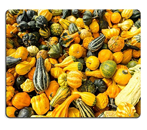 Smoomfly Mouse Pad Natural Rubber Mousepad a lot of colorful ornamental squash Image ID 22967045