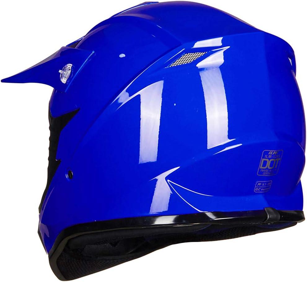 ILM Visor for 128S Adult Youth Kids ATV Motocross Dirt Bike Motorcycle BMX MX Downhill Off-Road Helmet(BLUEBLACK,Adult