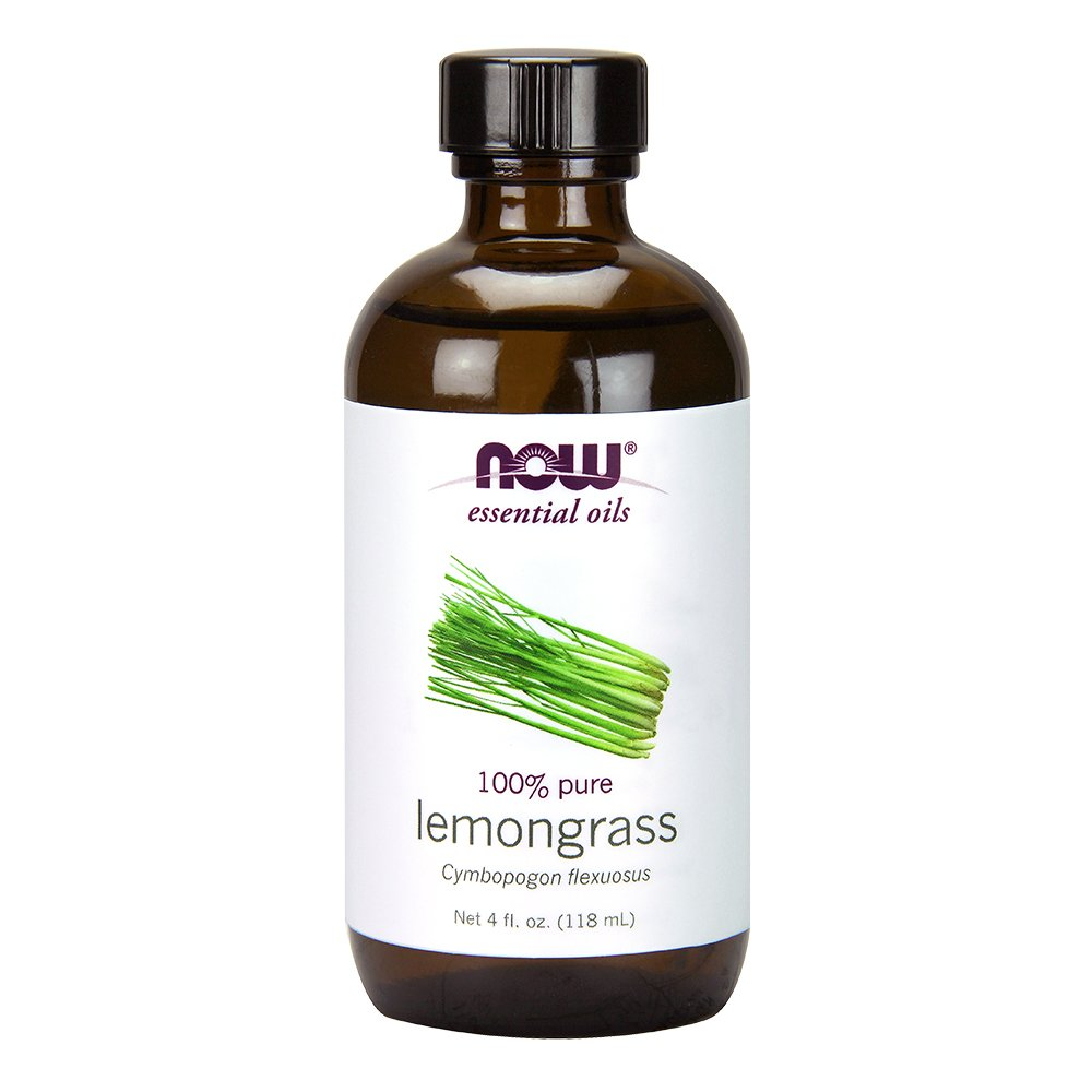 NOW Solutions Lemongrass Essential Oil, 4-Ounce